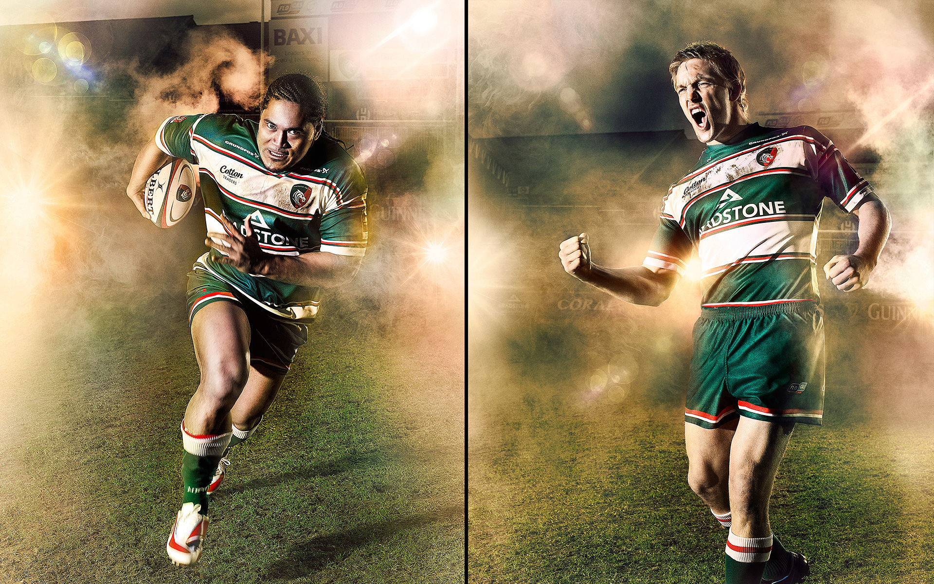 Alesana Tuilagi & Lewis Moody Leicester Tigers ©S Derviller