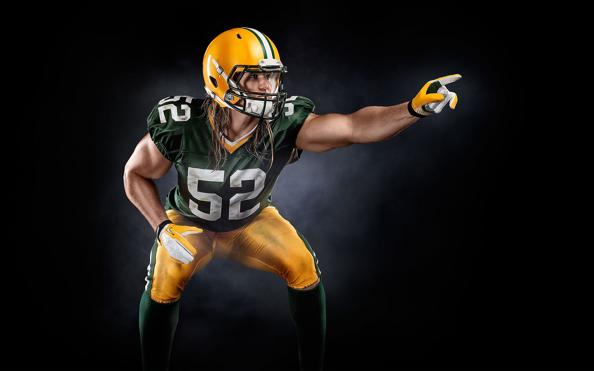 Clay Matthews Muscle Milk ©B Bunting