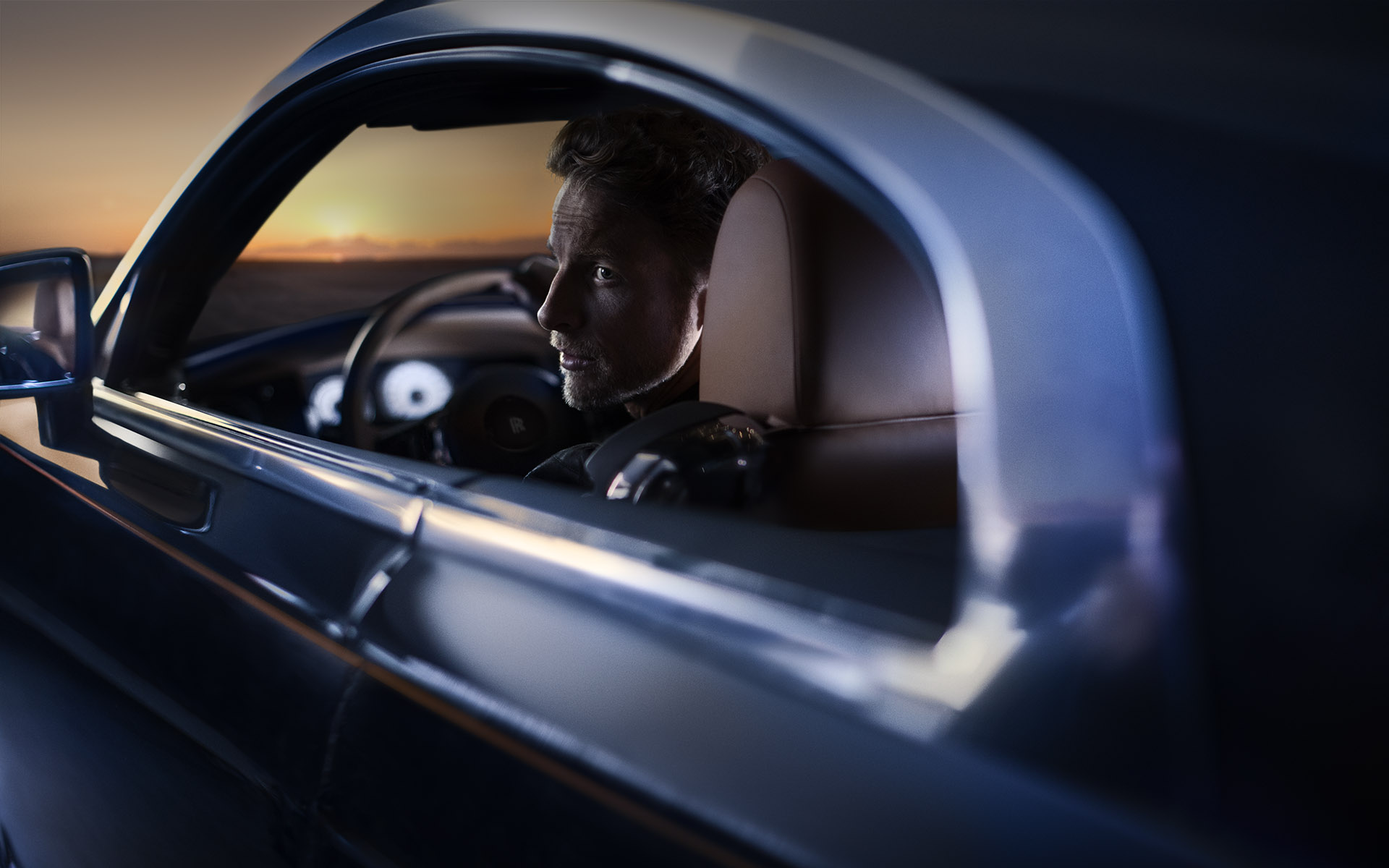 Rolls Royce Wraith: Jenson Button • Daughter Creative: Stuart Jackson/Gareth Hopkins • Creative agency: Intro • Art Direction: Julian Gibbs • Photography: Randall Slavin