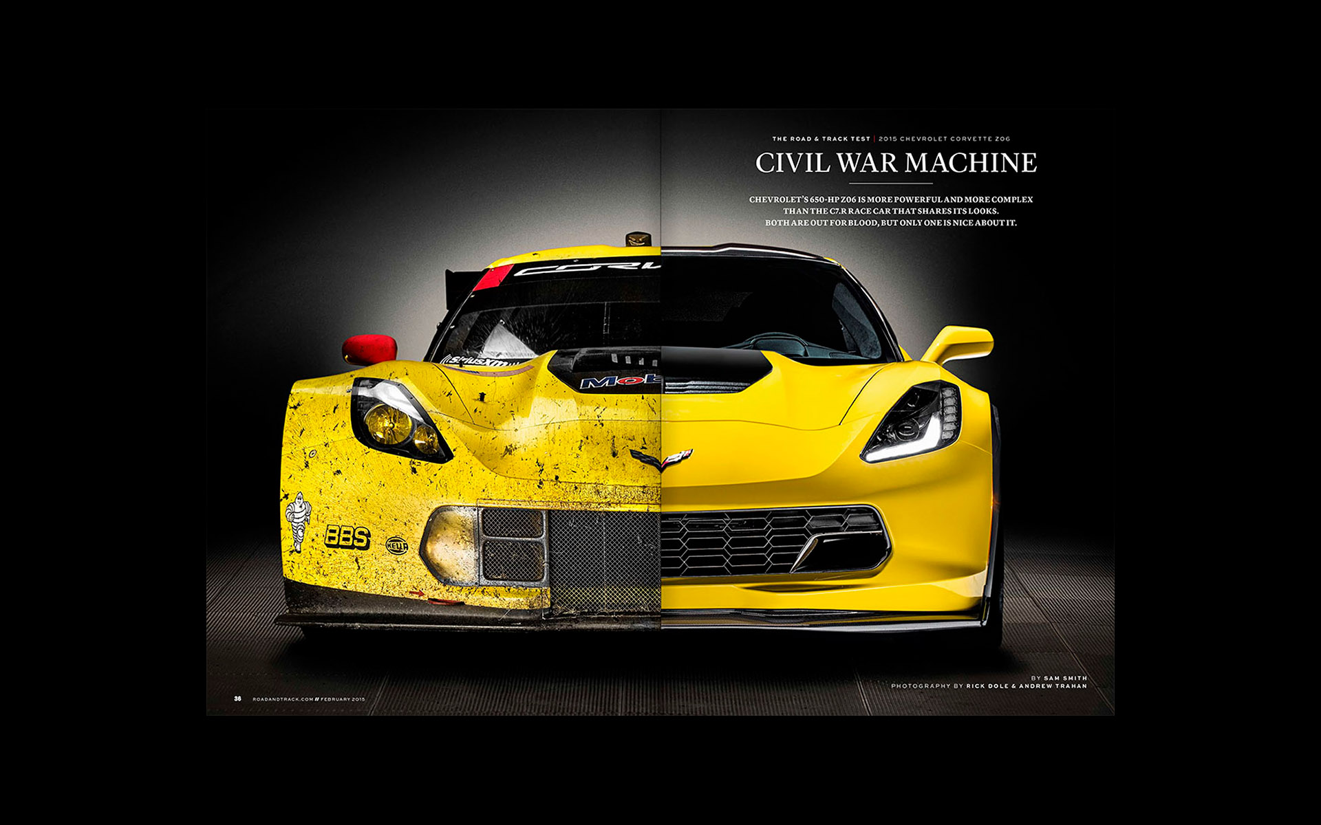 Corvette Z06 Road & Track magazine ©Richard Dole